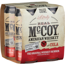 Photo of Real Mccoy & Cola Can