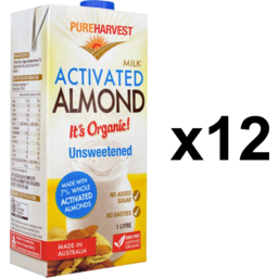 Photo of Pureharvest Almond Milk - Activated - Box Of 12