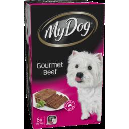 Photo of My Dog Gourmet Beef Dog Food 6x100g