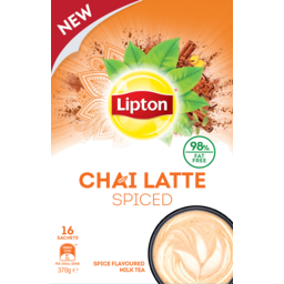 Photo of Lipton Chai Latte Spiced Flavoured Milk Tea 16 Pack 370g