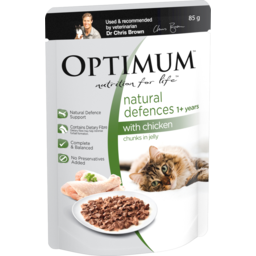 Photo of Optimum Natural Defences Wet Cat Food Chicken In Jelly 85g Pouch