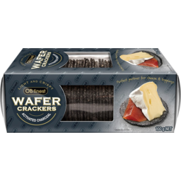 Photo of Ob Finest Wafer Crackers Activated Charcoal 100g
