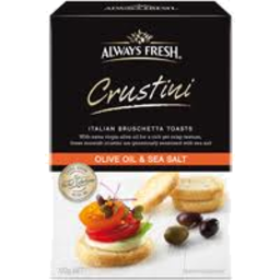 Photo of Always Fresh Crustini Olive Oil & Sea Salt 120gm