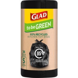 Photo of Glad To Be Green 95% Recycled Wavetop Small Kitchen Tidy Bags 17l 34 Pack