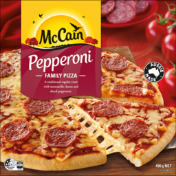 Photo of Mccain Pepperoni Family Pizza 490g
