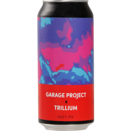 Photo of Garage Project X Trillium Beer Hazy IPA 440ml
