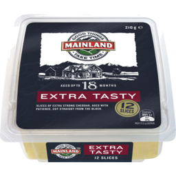 Photo of Mainland Extra Tasty Cheddar Cheese Slices 210 G