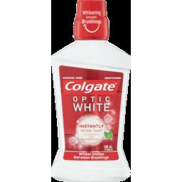 Photo of Colgate Optic White Alcohol-Free Mouthwash With Optic Brightener 500ml