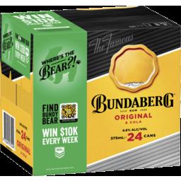 Photo of Bundaberg Rum Original & Cola Cans Cube