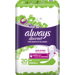 Photo of  Always Discreet Small 20 Pads