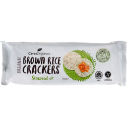 Photo of Brown Rice Crackers - Seaweed 115g