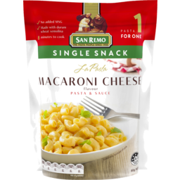 Photo of San Remo La Pasta Single Snack Macaroni Cheese 80g
