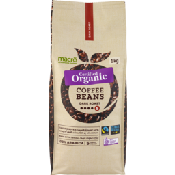 Photo of Macro Organic Dark Coffee Beans 1kg