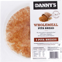 Photo of Dannys Pita Bread Wholemeal 5 Pack