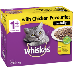 Photo of Whiskas 1+ Wet Cat Food With Chicken Favourites In Jelly 12x85g Pouches
