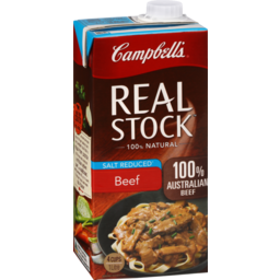 Photo of Campbells Real Stock Beef Salt Reduced 1L