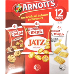 Photo of Arnotts Mini Variety 12pk Multipack 292gm