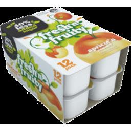 Photo of Fresh n Fruity 40% Less Sugar Yoghurt Apricot & Custard 12 Pack