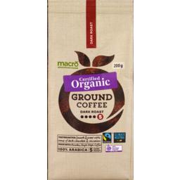 Photo of Macro Organic Fair Trade Plunger Grinder Dark Ground 200g