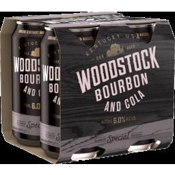Photo of Woodstock Bourbon & Cola 6.0% 375ml 4 Pack