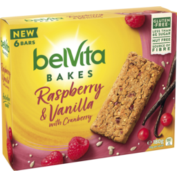 Photo of Belvita Bakes Rasberry And Vanilla With Cranberry 180g