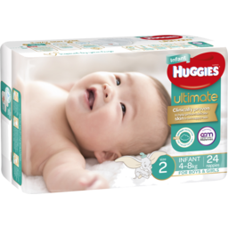 Photo of Huggies Ult Nappy Infant 24s