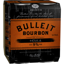 Photo of Bulleit Bourbon & Cola 9% Cans