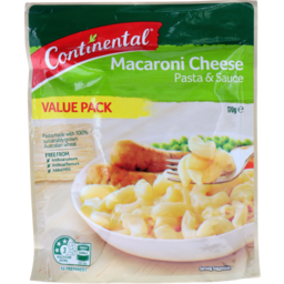 Photo of Continental Pasta & Sauce Macaroni Cheese Value Pack 170g Serves 5