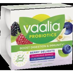 Photo of Vaalia Berry Delights Yoghurt 4x150g
