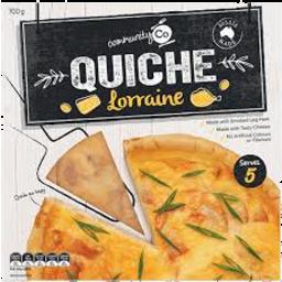 Photo of Comm Co Quiche Lorraine 700gm