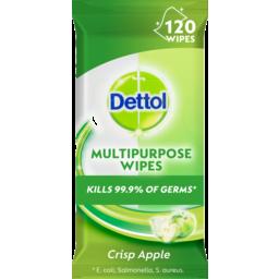 Photo of Dettol Multipurpose Wipes Crisp Apple 120 Pack