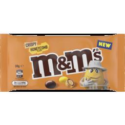 Photo of M&M's Crispy Honeycomb Chocolate Singles Bag 38g