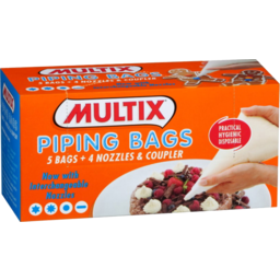 Photo of Multix Baking Aids Piping Bags Interchangeable Nozzles X 5