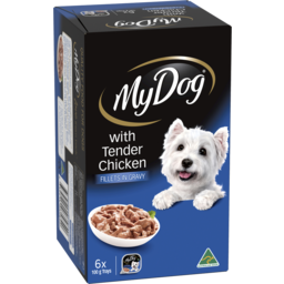 Photo of My Dog Adult Wet Dog Food Tender Chicken Fillets In Gravy 6x100g Trays