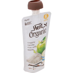 Photo of Heinz Organic Creamy Vanilla Rice 6mths+ 120g