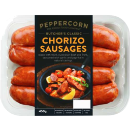 Photo of Peppercorn Food Co Butcher's Classic Chorizo Sausages 450gm