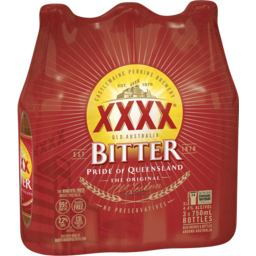Photo of XXXX Bitter Bottles