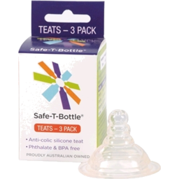 Photo of Safe Baby Bottle Teats 3pk - SLOW 3 - 6 months
