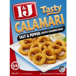 Photo of I&J Salt Pepper Calamari Rings 360gm