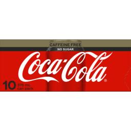 Photo of Coca Cola No Sugar Caffeine Free Cans 10x375ml
