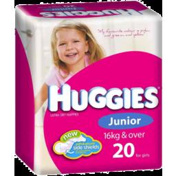 Photo of Huggies Nappies Junior Girl 20pk