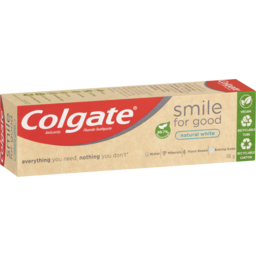 Photo of Colgate Smile For Good Natural Toothpaste 95g, Natural White, Vegan, Sls Free, Anticavity With Recyclable Tube 95g