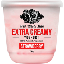 Photo of The Margaret River Dairy Strawberry Yoghurt 750g