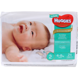 Photo of Huggies Infant Unisex Nappies Size 2 24pk