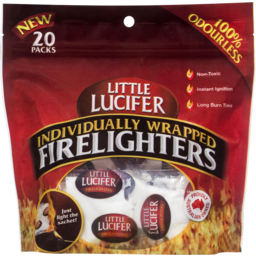 Photo of Little Lucifer Individually Wrapped Firelighters 20pk