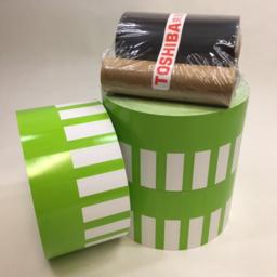 Photo of Printer, Toshiba, Consumables Bundle, Green/White, 3 x 3.5K + ribbon (for TTEC B-SA4TM)