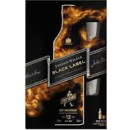 Photo of Johnnie Walker Black & 2 X 50ml Miniatures Gift Pack