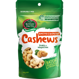 Photo of Mother Earth Cashews Roasted & Unsalted 150g