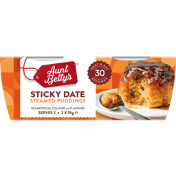 Photo of Aunt Betty's Sticky Date Pudding 2pk 190g