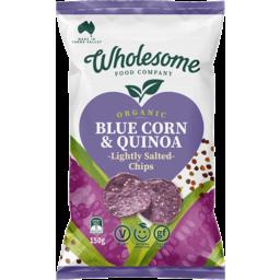 Photo of Wholesome Food Company Chips - Tortilla Corn (Blue Corn & Quinoa